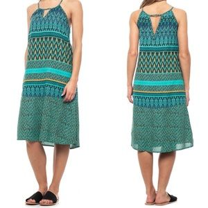 Prana | Nari Keyhole Midi Dress Laurel Green XS
